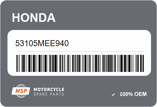 Honda OEM Part 53105-MEE-940